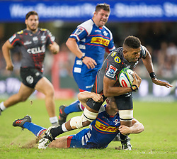 DURBAN, SOUTH AFRICA - APRIL 21: Tyler Paul of the Cell C Sharks during the Super Rugby match between Cell C Sharks and DHL Stormers at Jonsson Kings Park on April 21, 2018 in Durban, South Africa. Picture Leon Lestrade/African News Agency/ANA