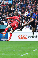 Bryan Habana / Fergus Mc Fadden  - 19.04.2015 - Toulon / Leinster - 1/2Finale European Champions Cup -Marseille<br /> Photo : Andre Delon / Icon Sport