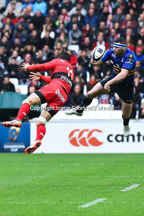 Bryan Habana / Fergus Mc Fadden  - 19.04.2015 - Toulon / Leinster - 1/2Finale European Champions Cup -Marseille<br /> Photo : Andre Delon / Icon Sport
