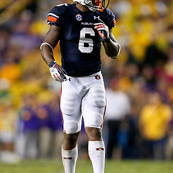 Sep 21, 2013; Baton Rouge, LA, USA; Auburn Tigers defensive back Jonathon Mincy (6) against the LSU Tigers during the second half of a game at Tiger Stadium. LSU defeated Auburn 35-21. Mandatory Credit: Derick E. Hingle-USA TODAY Sports