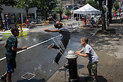 Brownsville neighborhood of Brooklyn, NY, on Saturday, June 29, 2013. <br /> <br /> Photograph by Andrew Hinderaker.