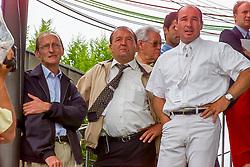 Somers Lucien, Postelmans Peter, Le Jeune Philippe, BEL<br /> CHIO Aachen 2001<br /> © Hippo Foto - Dirk Caremans<br /> 15/06/2001