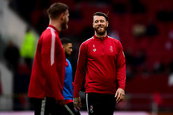 Nathan Baker of Bristol City warms up prior to kick off  - Mandatory by-line: Ryan Hiscott/JMP - 22/02/2020 - FOOTBALL - Ashton Gate - Bristol, England - Bristol City v West Bromwich Albion - Sky Bet Championship