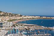 Vue sur la baie de Cannes depuis le quartier du Suquet // View of Cannes bay from Le Suquet