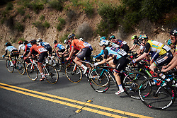 Omer Shapira (ISR) in the bunch at Amgen Tour of California Women's Race empowered with SRAM 2019 - Stage 3, a 126 km road race from Santa Clarita to Pasedena, United States on May 18, 2019. Photo by Sean Robinson/velofocus.com