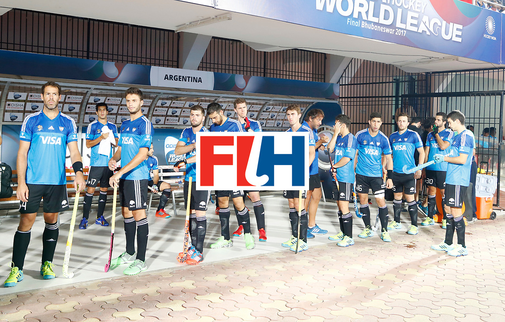 Odisha Men's Hockey World League Final Bhubaneswar 2017<br /> Match id:11<br /> Argentina v Spain<br /> Foto: Line Up<br /> COPYRIGHT WORLDSPORTPICS KOEN SUYK
