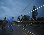 Storm damage in Oxford, Miss. on Wednesday, April 27, 2011.