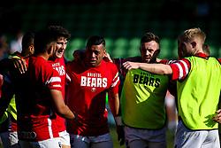 Bristol Bears backs huddle - Mandatory by-line: Robbie Stephenson/JMP - 23/02/2019 - RUGBY - Twickenham Stoop - London, England - Harlequins v Bristol Bears - Gallagher Premiership Rugby