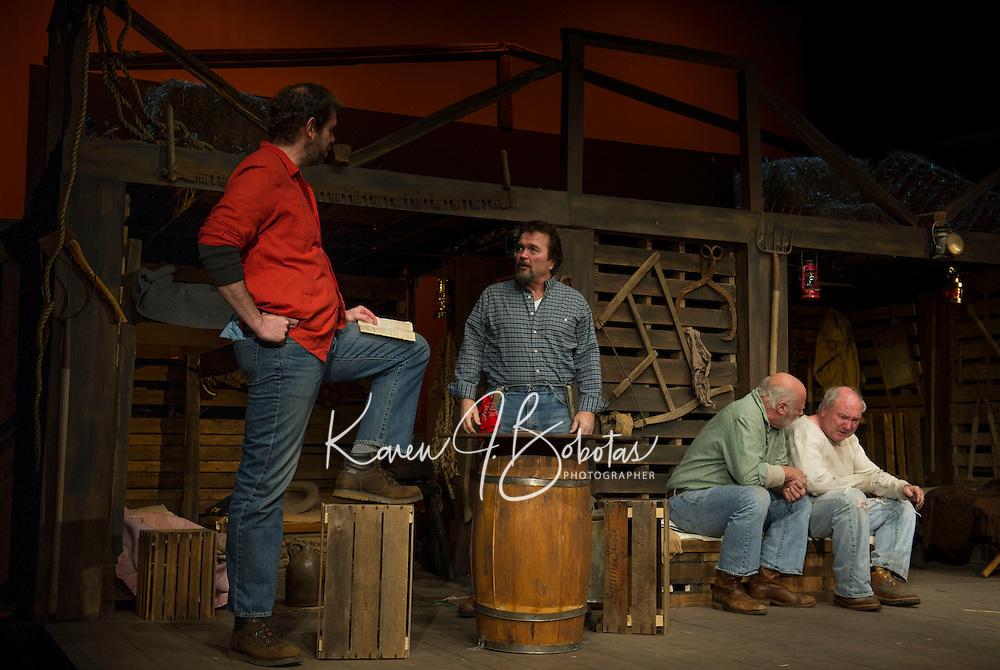 Of Mice and Men dress rehearsal at Winnipesaukee Playhouse.  Karen Bobotas /for the Laconia Daily Sun