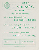 19.03.1964 All Ireland Junior Football Final