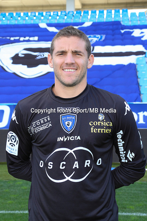Jean Louis LECA - 09.10.2013 - Photo officielle Bastia 2013/2014 - Ligue 1<br /> Photo : Icon Sport