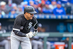 March 29, 2018 - Kansas City, MO, U.S. - KANSAS Kansas City, MO - MARCH 29: Chicago White Sox right fielder Avisail Garcia (26) heads to first base during the major league opening day game against the Kansas City Royals on March 29, 2018 at Kauffman Stadium in Kansas City, Missouri. (Photo by William Purnell/Icon Sportswire) (Credit Image: © William Purnell/Icon SMI via ZUMA Press)
