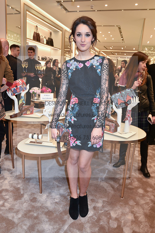 Rosanna Falconer at a party to celebrate the launch of the new Furla Flagship store, 71 Brompton Road, London England. 2 February 2017.