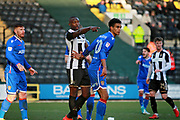 Man of the Match Notts County's Shola Ameobi(9) points the way during the EFL Sky Bet League 2 match between Notts County and Stevenage at Meadow Lane, Nottingham, England on 24 February 2018. Picture by Nigel Cole.