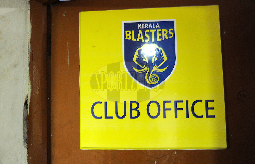 Club Office during match 34 of the Indian Super League (ISL) season 2 between Kerala Blasters FC and AtlŽtico de Kolkata held at the Jawaharlal Nehru Stadium, Kochi, India on the 10th November 2015.<br /> <br /> Photo by Pal Pillai / ISL/ SPORTZPICS