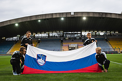Flag boys before friendly Football match between U21 national teams of Slovenia and France, on September 8, 2019 in Ljudski Vrt, Maribor, Slovenia. Photo by Blaž Weindorfer / Sportida