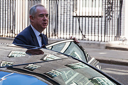 London, UK. 21 May, 2019. Geoffrey Cox QC MP, Attorney General, leaves 10 Downing Street following a Cabinet meeting.