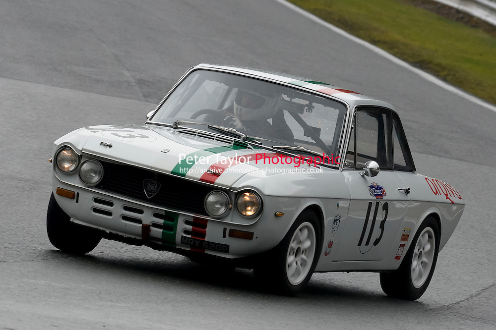 #113 Pietro Caccamo Lancia Fulvia 1300 during the CSCC Adams and Page Swinging Sixties at Oulton Park, Little Budworth, Cheshire, United Kingdom. October 15 2016. World Copyright Peter Taylor/PSP. <br /> Copy of publication required for printed pictures.  Every used picture is fee-liable. http://archive.petertaylor-photographic.co.uk