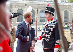 LONDON - UK - 7th April 2016: Prince Harry attends the annual Lord Mayors Big Curry Lunch in aid of ABF , The Soldiers Charity at the Guild Hall in the City of London.<br /> <br /> Photograph by Ian Jones.