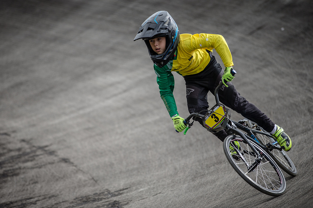 #3 during practice at the 2018 UCI BMX World Championships in Baku, Azerbaijan.