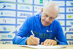 Svjetlan Vujasin during press conference when Slovenian athletes and their coaches sign contracts with Athletic federation of Slovenia for year 2016, on February 25, 2016 in AZS, Ljubljana, Slovenia. Photo by Vid Ponikvar / Sportida