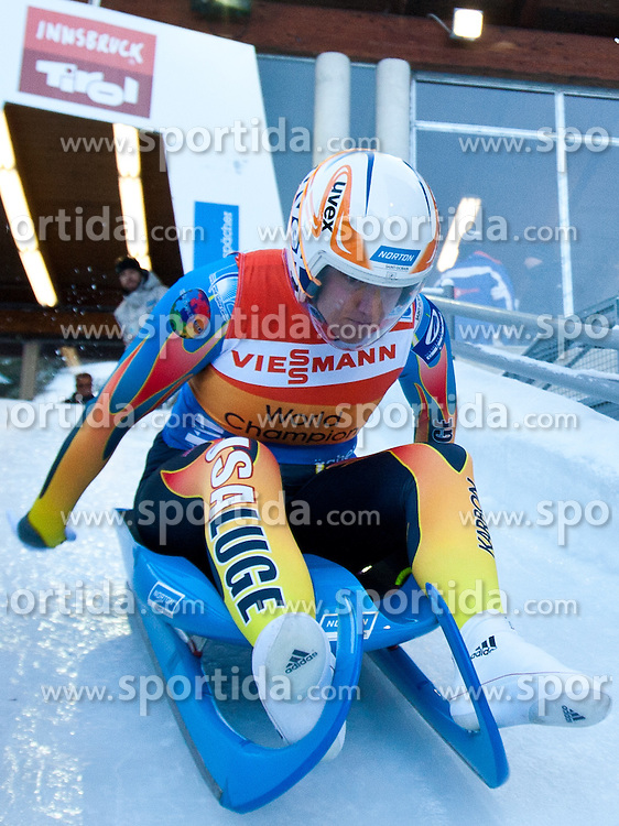 27.11.2010, Eiskanal, Igls, AUT, Viessmann Rennrodel Weltcup in Innsbruck 2010, Damen Einsitzer, im Bild Erin Hamlin (USA), EXPA Pictures © 2010, PhotoCredit: EXPA/ J. Groder / SPORTIDA PHOTO AGENCY