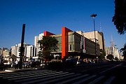 Sao Paulo_SP, Brasil...Fachada do MASP (Museu de Arte do Estado de Sao Paulo) localizado na Avenida Paulista...The MASP facade (Sao Paulo Museum of Art) located in Paulista Avenue...Foto: MARCUS DESIMONI / NITRO