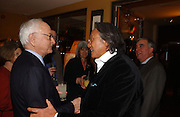 James Ivory and David Tang. The after show party following the UK Premiere of 'The White Countess', at China Tang, Park Lane London. March 19  2006. London. ONE TIME USE ONLY - DO NOT ARCHIVE  © Copyright Photograph by Dafydd Jones 66 Stockwell Park Rd. London SW9 0DA Tel 020 7733 0108 www.dafjones.com