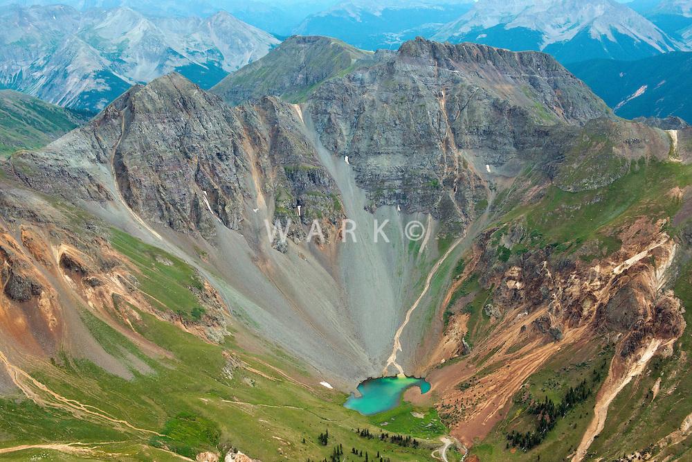 Valley lake at Storm Peak, San Juan Mountains, Gunnison National Forest.  4 miles north of Silverton, Colorado. July 2013.  80494