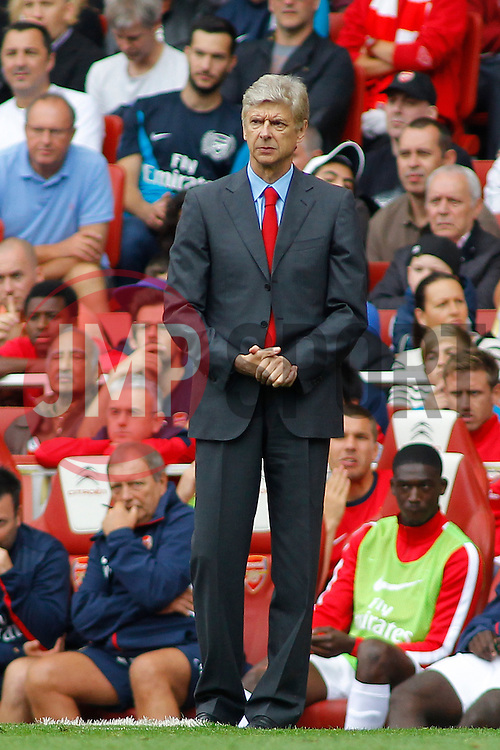 Arsenal's Manager Arsene Wenger  - Photo mandatory by-line: Mitch Gunn/JMP - Tel: Mobile: 07966 386802 17/08/2013 - SPORT - FOOTBALL - Emirates Stadium - London -  Arsenal V Aston Villa - Barclays Premier League