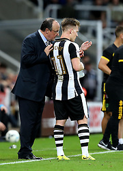 Matt Ritchie of Newcastle United is spoken to by Newcastle United manager Rafa Benitez - Mandatory by-line: Robbie Stephenson/JMP - 28/09/2016 - FOOTBALL - St James Park - Newcastle upon Tyne, England - Newcastle United v Norwich City - Sky Bet Championship