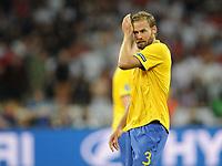 Fotball<br /> EM 2012<br /> 15.06.2012<br /> England v Sverige<br /> Foto: Witters/Digitalsport<br /> NORWAY ONLY<br /> <br /> Olof Mellberg (Schweden)<br /> Fussball EURO 2012, Vorrunde, Gruppe D, Schweden - England