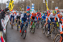 Caroline Mani (FRA), Women Elite, Cyclo-cross World Championships Tabor, Czech Republic, 31 January 2015, Photo by Pim Nijland / PelotonPhotos.com