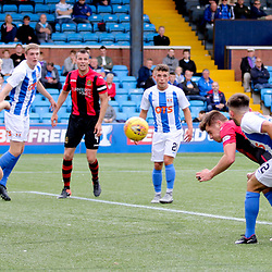 Dougie Hill  heads for goal  during the Kilmarnock v Dumbarton Betfred Cup Group E  29nd July 2017 <br /> <br /> <br /> <br /> <br /> (c) Andy Scott | SportPix.org.uk