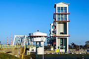 Nederland, Zuid-Holland, Capelle aan den IJssel, 13-03-2016; Algerakering, ook Stormvloedkering Hollandse IJssel, het eerste deltawerk. Op de grens met Krimpen aan de IJssel.<br /> <br /> copyright foto/photo Siebe Swart