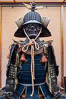 Japon, île de Shikoku, prefecture de Ehime, Matsuyama, le château de Matsuyama-jo, vetement de samourai // Japan, Shikoku island, Ehime region, Matsuyama, castle of Matsuyama-jo, samourai clothes