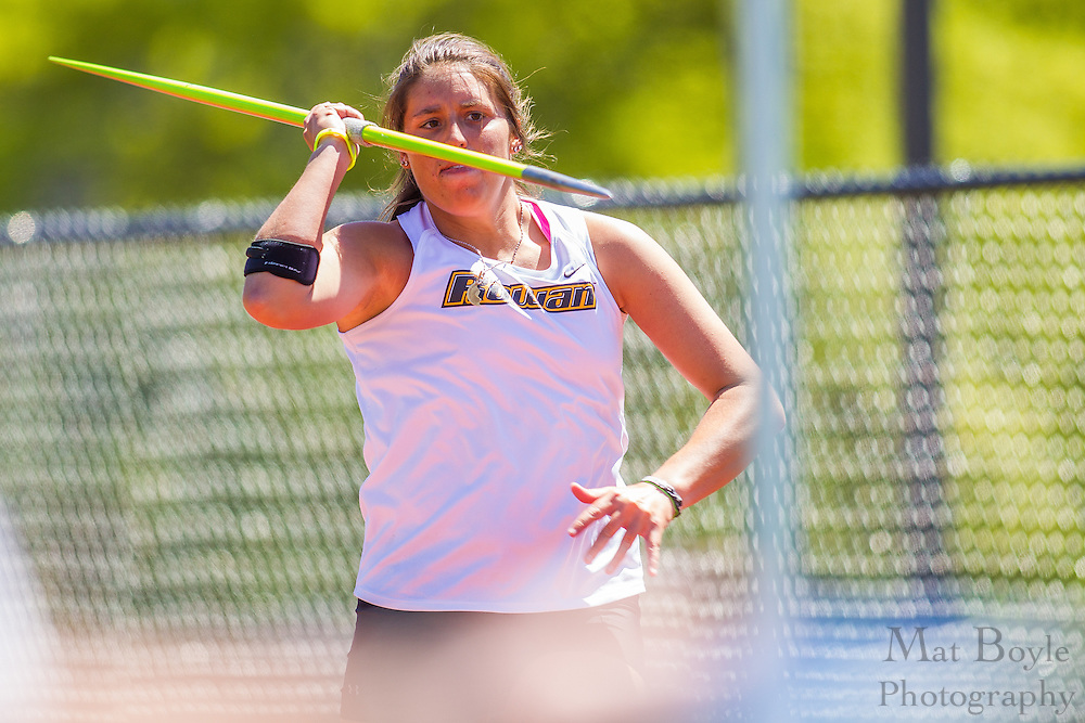 Rowan University Sophomore Melissa Lake competes in the women's javelin at the NJAC Track and Field Championships at Richard Wacker Stadium on the campus of  Rowan University  in Glassboro, NJ on Saturday May 4, 2013. (photo / Mat Boyle)