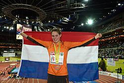 07-03-2015 CZE: European Athletics Indoor Championships, Prague<br /> Maureen Koster NED pakt de eerste medaille voor Nederland. Brons op de 3000 meter