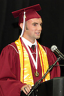 Valedictorian Alex Barsala speaks during the 142nd annual Lebanon High School commencement at the Nutter Center in Fairborn, Saturday, May 26, 2012.
