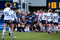Worcester Warriors Women celebrate their opening try - Mandatory by-line: Robbie Stephenson/JMP - 01/12/2019 - RUGBY - Sixways Stadium - Worcester, England - Worcester Warriors Women v Bristol Bears Women - Tyrrells Premier 15s