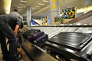 Israel, Ben Gurion International Airport, Arrival hall, baggage claim area