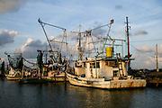Shrimp boats in Grand Bayou Village, Louisiana.