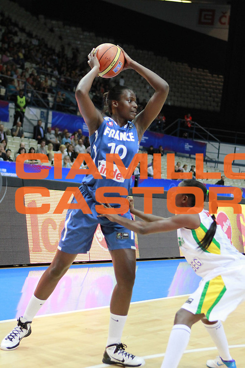 DESCRIZIONE : Ostrawa Repubblica Ceca Czech Republic Women World Championship 2010 Campionato Mondiale Preliminary Round Senegal France<br /> GIOCATORE : Jennifer DIGBEU<br /> SQUADRA : France Francia<br /> EVENTO : Ostrawa Repubblica Ceca Czech Republic Women World Championship 2010 Campionato Mondiale 2010<br /> GARA : Senegal France Senegal Francia<br /> DATA : 23/09/2010<br /> CATEGORIA :<br /> SPORT : Pallacanestro <br /> AUTORE : Agenzia Ciamillo-Castoria/H.Bellenger<br /> Galleria : Czech Republic Women World Championship 2010<br /> Fotonotizia : Ostrawa Repubblica Ceca Czech Republic Women World Championship 2010 Campionato Mondiale Preliminary Round Senegal France<br /> Predefinita :