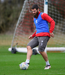 Lincoln City's Michael Bostwick during a training session at the BMW Soper of Lincoln Elite Performance Centre, Scampton, Lincolnshire.<br /> <br /> Picture: Chris Vaughan Photography for Lincoln City FC<br /> Date: February 4, 2020
