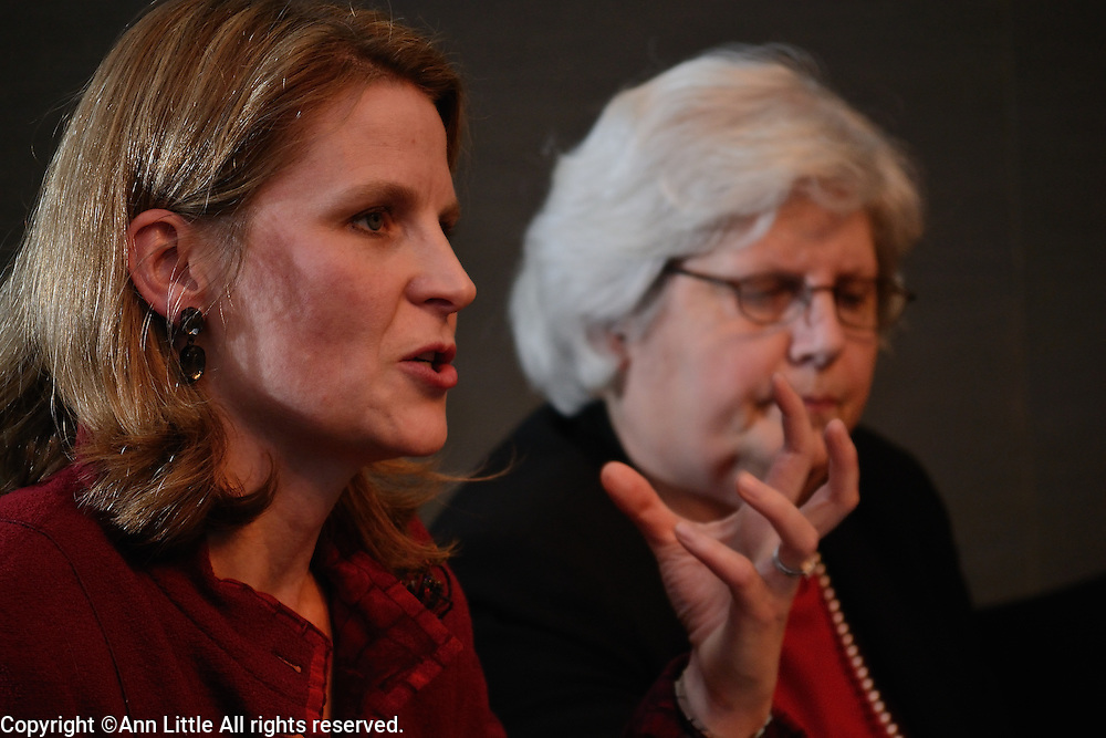 Elizabeth Shuler, first female Secretary-Treasurer of AFL-CIO, speaks at the She Should Run National Conversation panel discussion.  12/4/2013  Washington, DC.