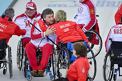 Marat Romanov, Angine Malone, Jim Gault, Andrey Smirnov, Wheelchair Curling Semi Finals at the 2014 Sochi Winter Paralympic Games, Russia