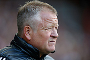 Chris Wilder of Sheffield United during the Premier League match between Sheffield United and Crystal Palace at Bramall Lane, Sheffield, England on 18 August 2019.