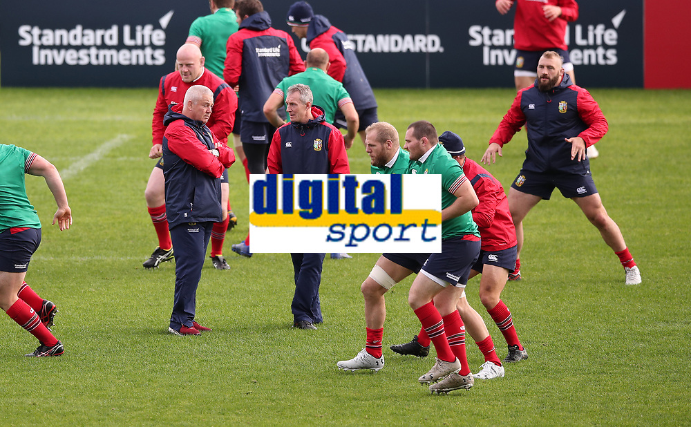 Rugby Union - 2017 British & Irish Lions Tour of New Zealand - Captains Run <br /> <br /> Warren Gatland head coach of the Lions chats to Rob Howley his assistant coach as the players train during the Captains Run at The QBE Stadium, Auckland. <br /> <br /> COLORSPORT/LYNNE CAMERON