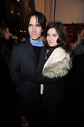 PIERS JACKSON and his daughter AMBA JACKSON at the opening of Jade Jagger's shop at 43 All Saints Road, London W11 on 25th November 2009.