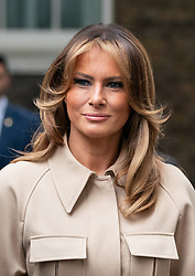 © Licensed to London News Pictures. 04/06/2019. London, UK. First Lady of the United States Melania Trump arrives in Downing Street with her husband the President of the United States of America Donald Trump (not pictured) to meet British Prime Minister Theresa May and her husband Philip May as part of Trump's state visit to the United Kingdom. Photo credit : Tom Nicholson/LNP